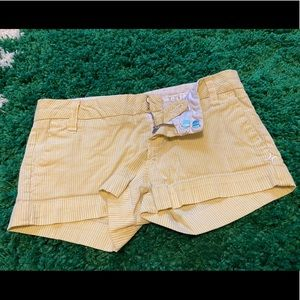 Hurley - Pale Yellow Striped Shorts
